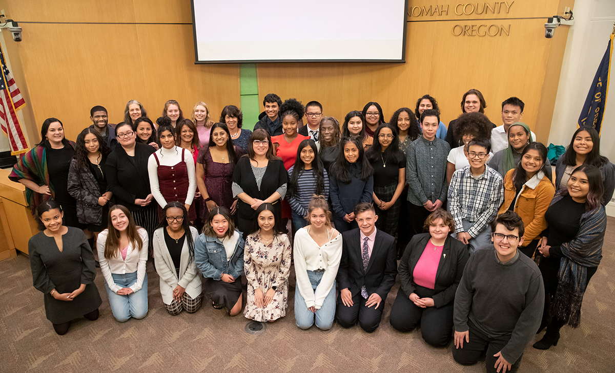 Group photo of the Multnomah Youth Commission