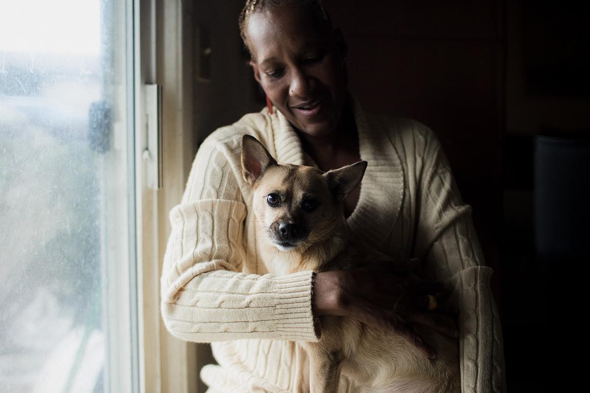 Alice Jackson and her dog, Baby