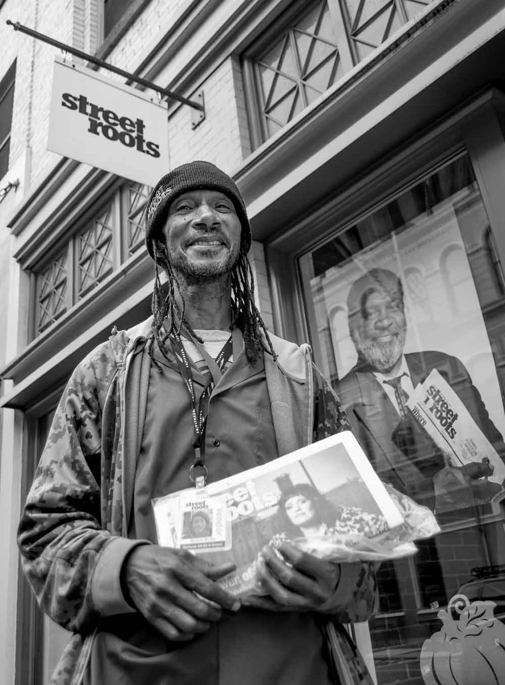 Street Roots vendor