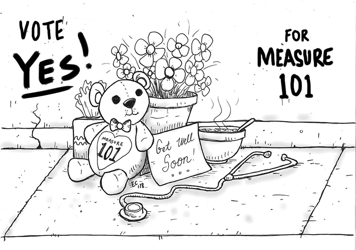 Sheeptoast editorial cartoon: Yes on Measure 101