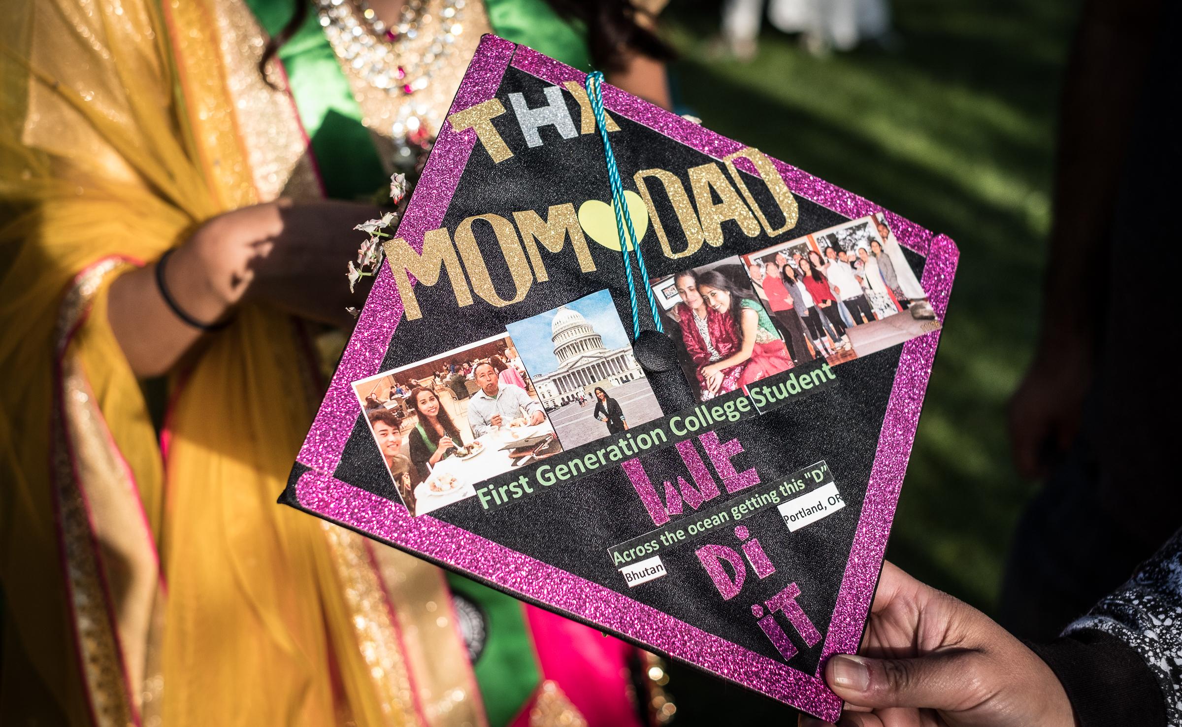 Sumitra Chhetri's graduation cap