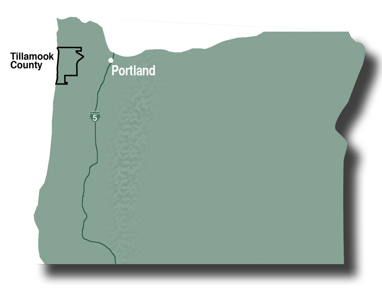 Tillamook County map