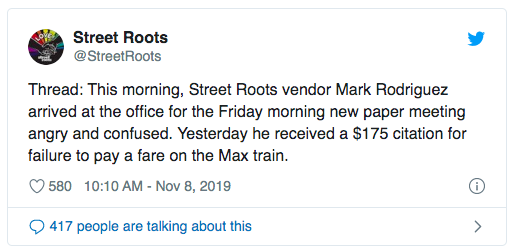 Twitter threat from @StreetRoots