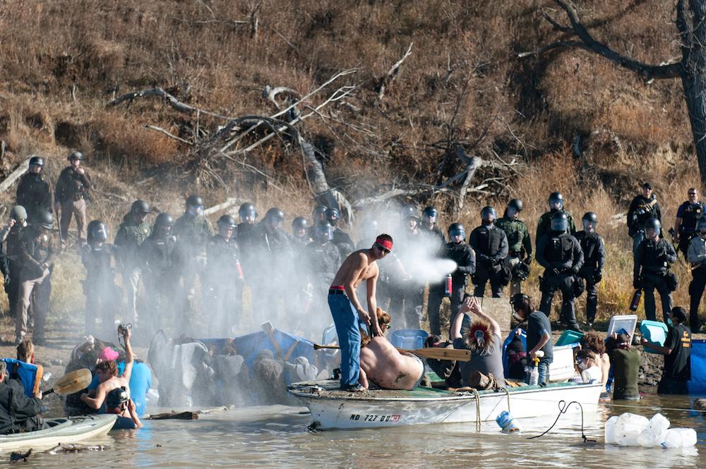 Pepper spray at Standing Rock