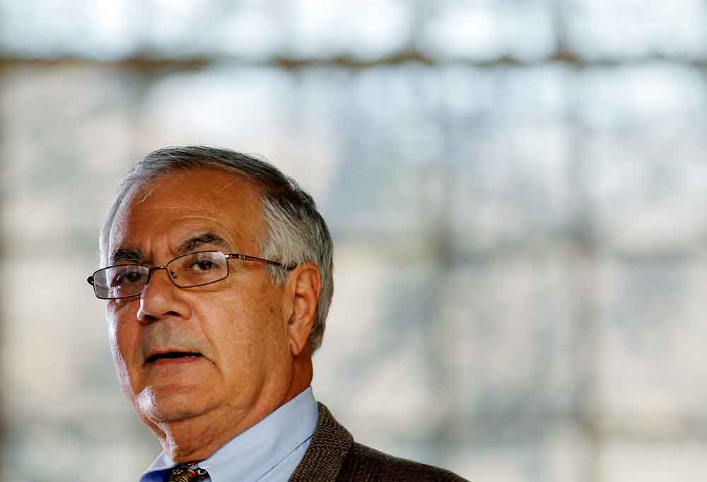 Rep. Barney Frank speaks at a news conference announcing that he would not seek a 17th term in Congress, Nov. 28, 2011.