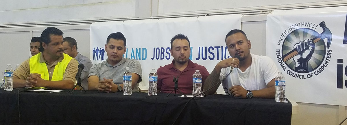 Jésus Pulido and Workers Rights Board panelists