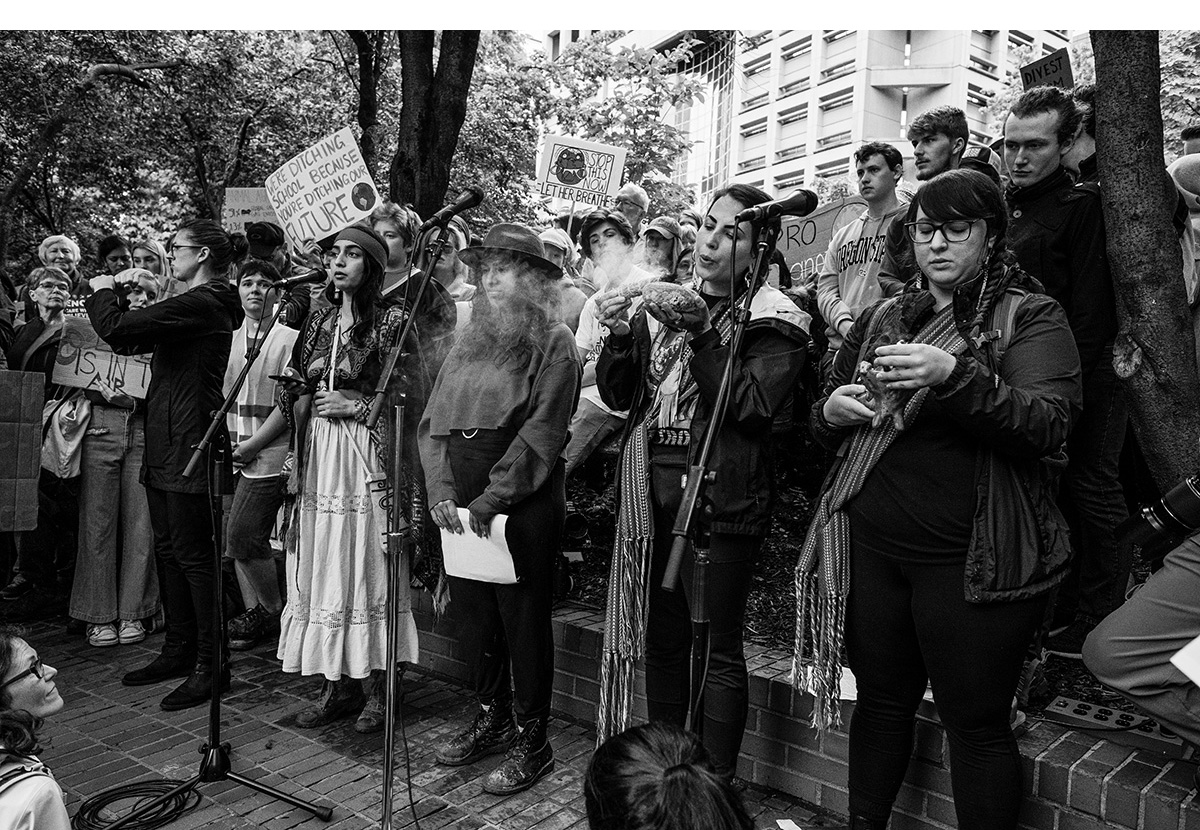 Portland Climate Strike:  Indigenous youth leaders performed a traditional ceremony in front of a crowd of thousands of protesters.