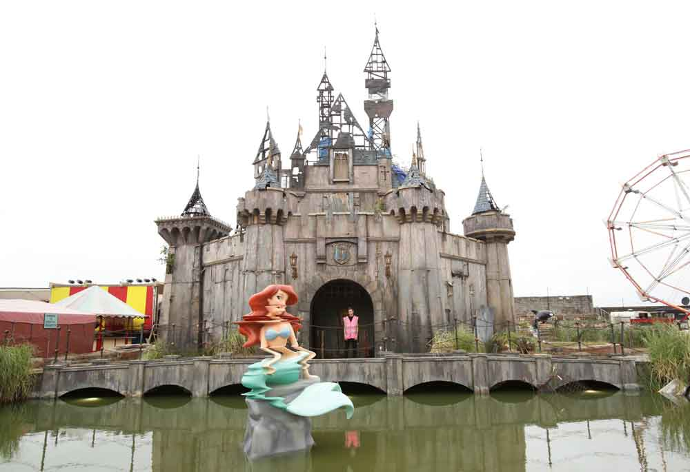 Scene from Dismaland, a production of the provocateur Banksy in collaboration with more than 50 cultural artists.