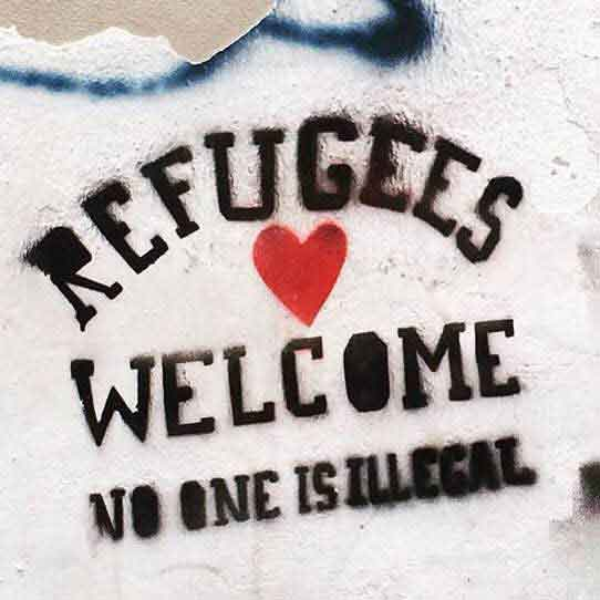 """Refugees Welcome"" art in Greece"