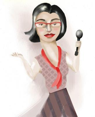 Illustration of author Negin Farsad