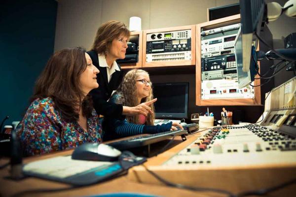 Girls inside KOIN6 control room