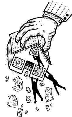 Housing and money illustration