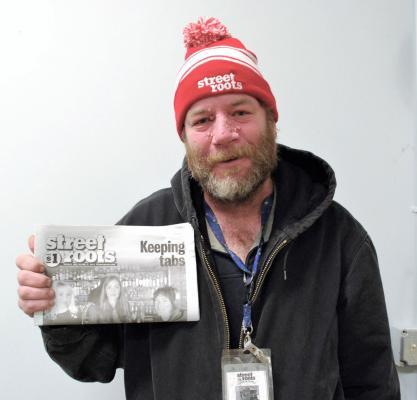 Street Roots vendor Ben