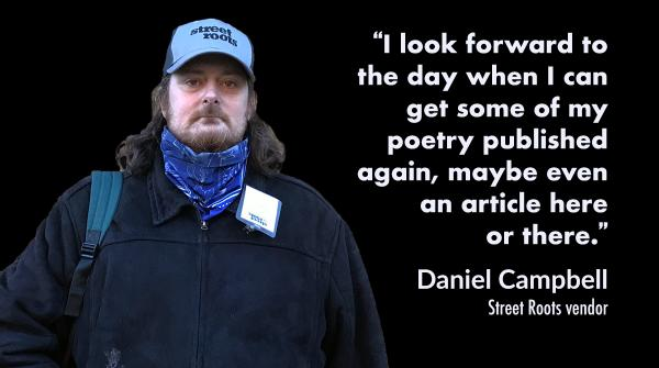 Street Roots vendor Daniel
