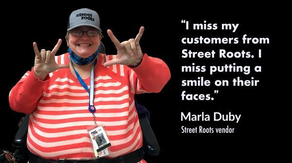 Street Roots vendor Marla