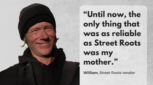 Street Roots vendor William