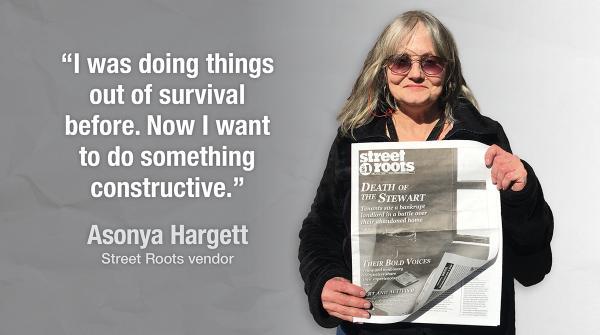 Street Roots vendor Asonya