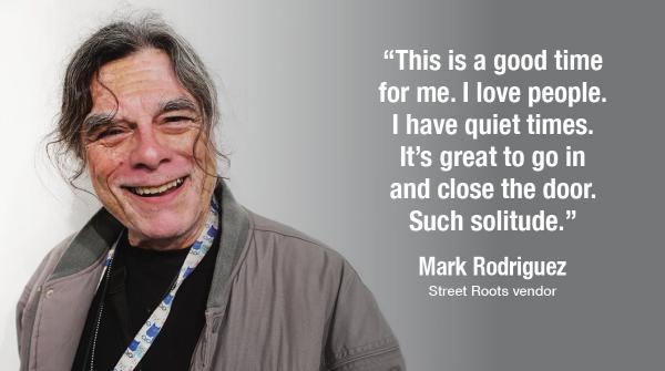 Street Roots vendor Mark Rodrigeuz