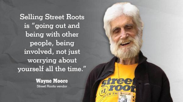 Street Roots vendor Wayne