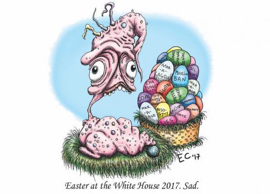 Sheeptoast editorial cartoon, April 14, 2017