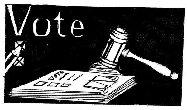 Gavel and ballot