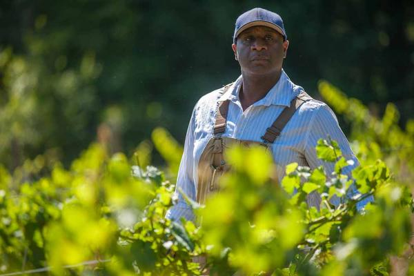 "Winemaker on the set of ""Red, White and Black"""