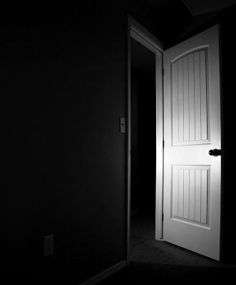 Photo illustration of an open door