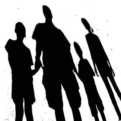 Illustration: Silhouette of family