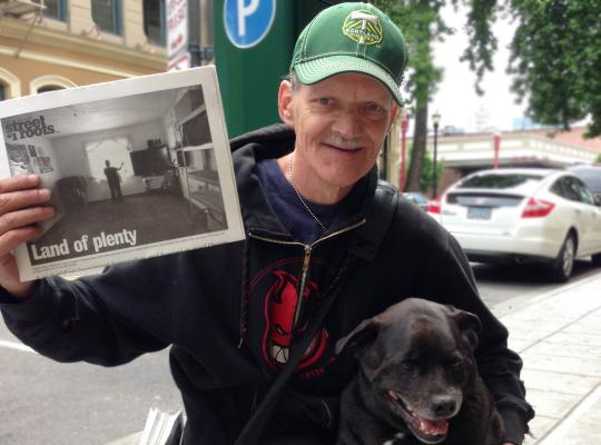 """Rick Phillips and his best friend Randy, the """"Top Dog of Old Town"""""""