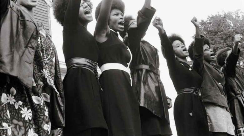 Black Panthers at Free Huey Rally in 1969