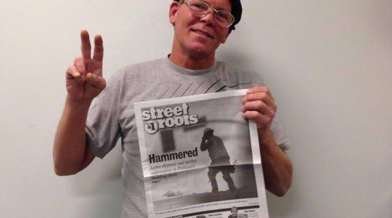 Street Roots vendor Clint