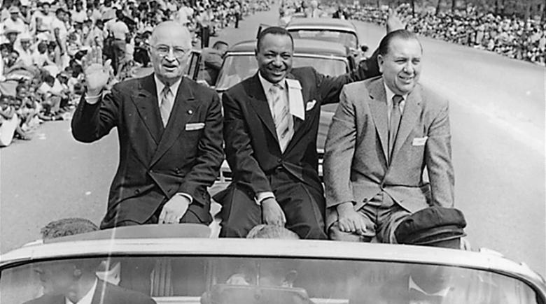 John Sengstacke with Harry Truman and Richard Daley