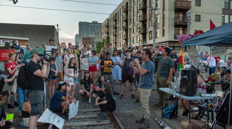 OccupyICEPDX protesters