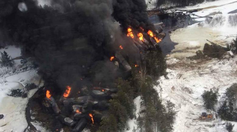 Canada Oil Fire Rail Derailment