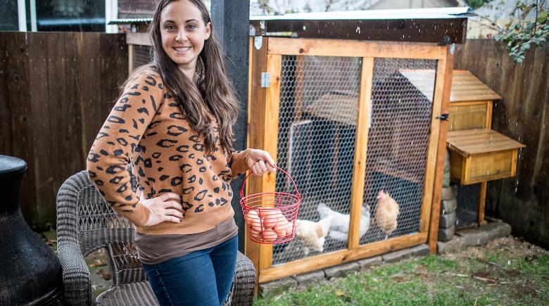 Amanda Brohman and her chicken coop