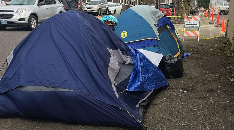 Tents in Portland