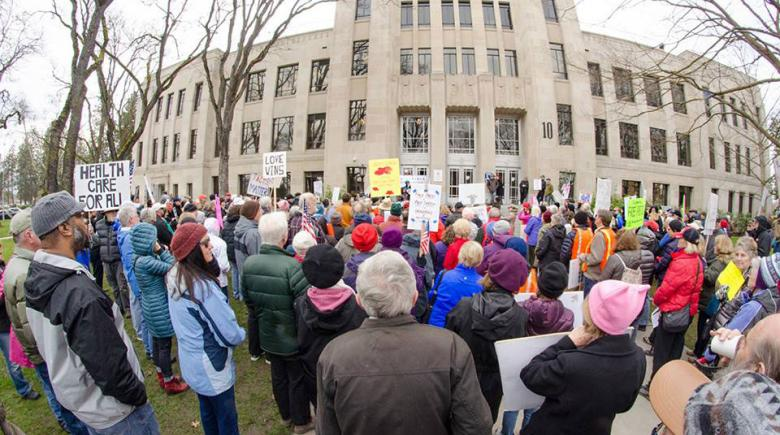 Indivisible Oregon demonstration