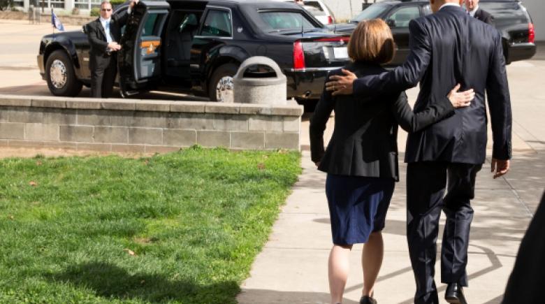 Barack Obama and Kate Brown in Roseburg