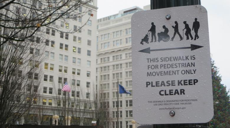 Pedestrian use zone