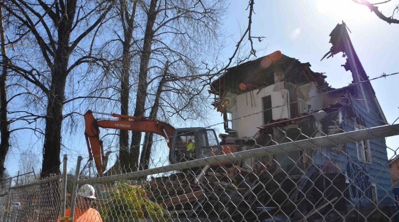 Demolition in Northeast Portland