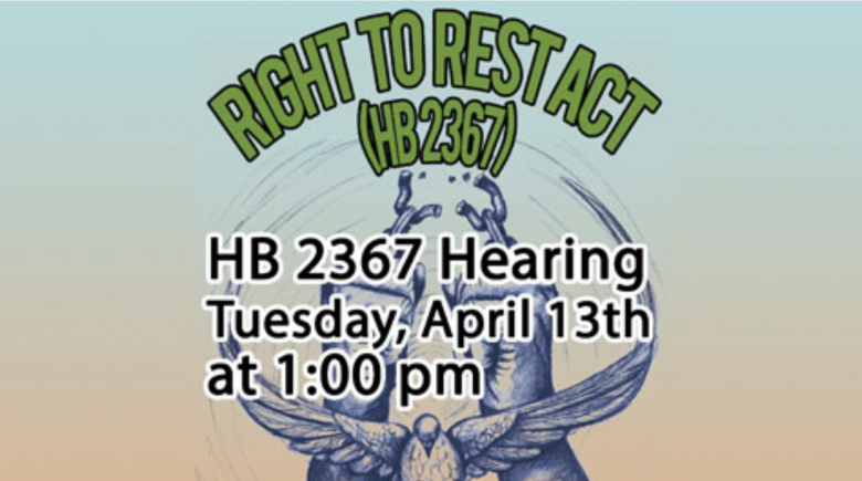 Right 2 Rest hearing is this Tuesday at 1 p.m.