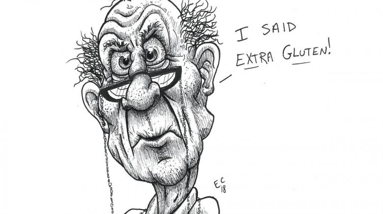 Sheeptoast editorial cartoon: Extra Gluten