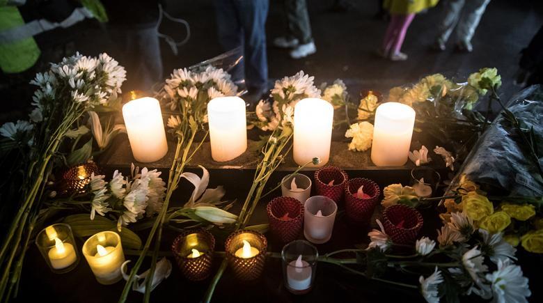 Candles at a vigil