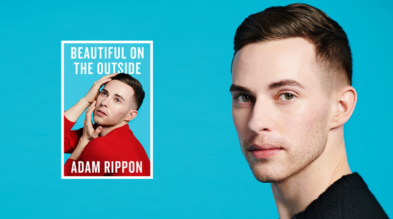 Adam Rippon portrait and book cover