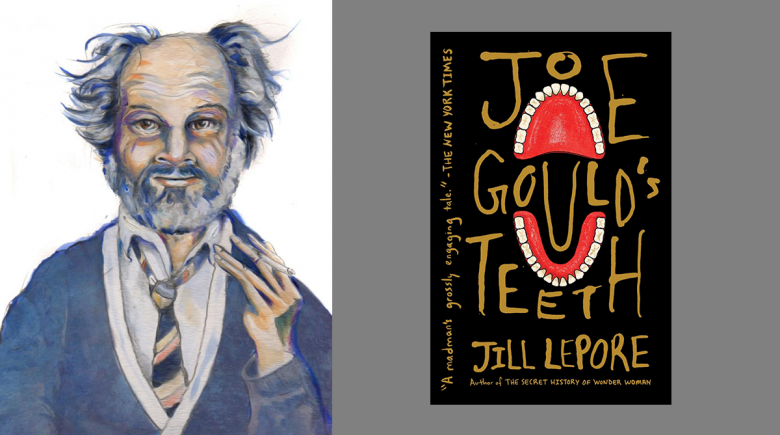 """""""Joe Gould's Teeth"""" illustration and book cover"""