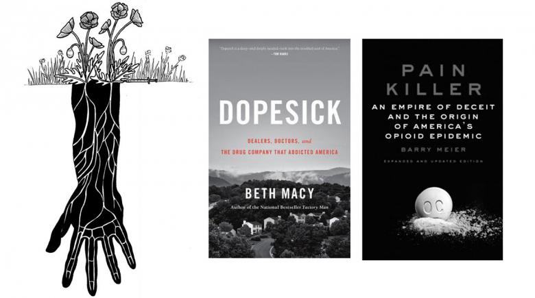 'Dopesick' and 'Pain Killer' book covers