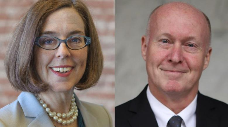 Kate Brown and Patrick Starnes