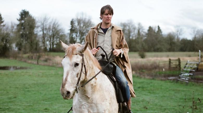 Stephen Malkmus on his horse