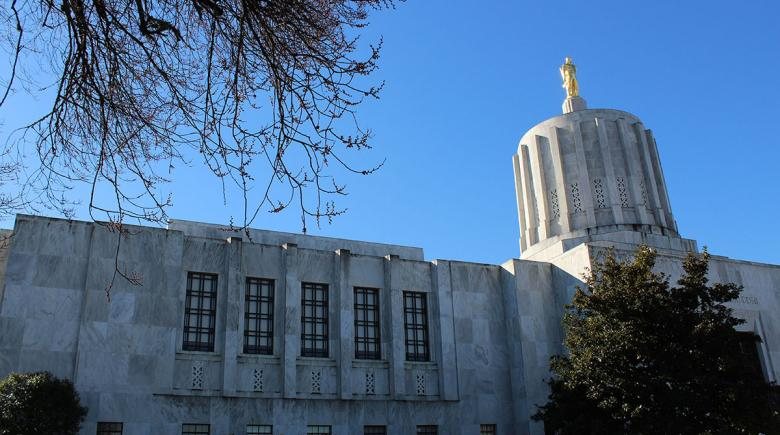Exterior of the Oregon State Capitol building