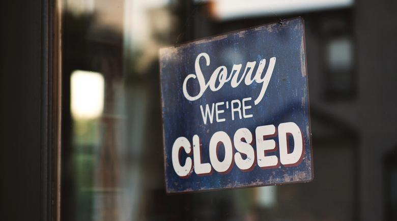Sign in window reads: Sorry, we're closed.